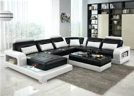 modern black and white leather sectional sofa white bonded leather sectional sofa modern black furniture tribeca