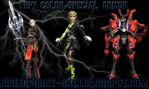 rf skin new color special armor defcon transform rising force skin