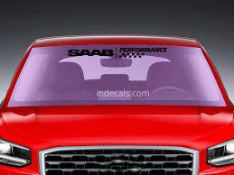 jeep windshield stickers 1 x saab performance sticker for windshield or back window black