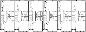 6 unit townhouse plans 6 plex plans double master bedroom house