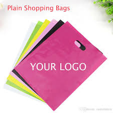 cloth gift bags plain color pe cloth bags blank shopping bags plastic packaging