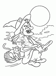 angry witch cat coloring pages kids halloween printables