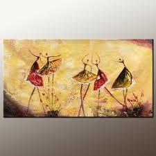 ballet dancer painting canvas art canvas painting modern art