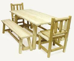 tables made from logs log kitchen table custom made with white cedar wood logs