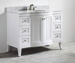 Inch White FreeStanding Vanities For A Bath Renovation - White 48 inch bath vanity