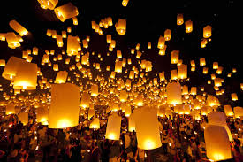 these sky lantern celebrations reflect a symbol of hope photos