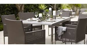 crate and barrel dining table set dune faux concrete dining table reviews crate and barrel