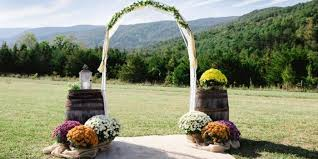 wedding arch log lydia mountain lodge and log cabin weddings