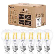kedsum 6w a19 dimmable led bulb 60w incandescent equivalent 2700k