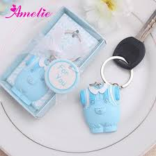 baby shower gifts 20pcs lot wholesale blue dress baby boy favors resin lovely souvenir