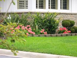 lawn u0026 garden front yard flower bed landscaping ideas of front