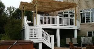 pergola added to existing deck homey backyard pinterest