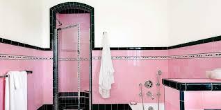 Pink Tile Bathroom With Colorful Tile 1930s Bathroom Design