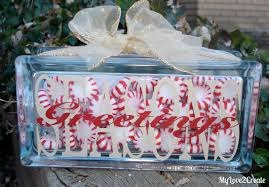 christmas glass block my love 2 create