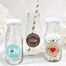 wedding favor jars personalized wedding vintage milk favor jars favor bottles