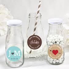 favor jars personalized wedding vintage milk favor jars favor bottles