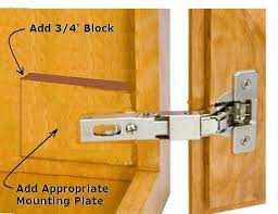 how to update cabinet hinges converting overlay hinges to european hinges carpentry