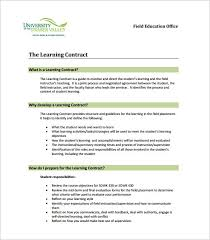learning contract template image titled write a contract for a