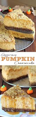 gingersnap pumpkin cheesecake cakescottage