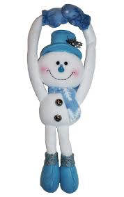 wholesale blue christmas snowman doorknob hanger buy wholesale