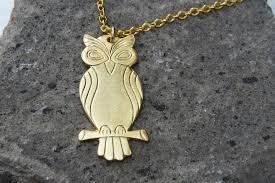 long gold owl necklace images Long necklace gold owl necklace modern necklace fashion jewelry jpg