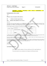 Sle Credit Card Charge Dispute Letter template credit policy and related sops pdf 1