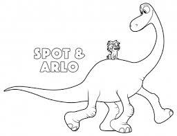 print good dinosaur arlo spot coloring pages