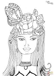 woman rose coloring page free printable coloring pages