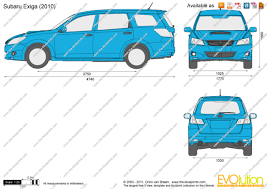 subaru exiga 2015 the blueprints com vector drawing subaru exiga