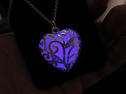 glow in the necklaces purple glow in the legend of heart necklace