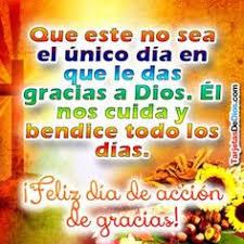 acción de gracias oraciones thanksgiving