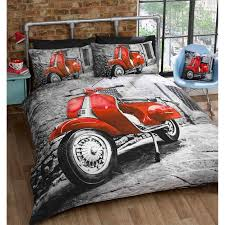 Cool Duvet Covers For Teenagers Cool Retro Mod Scooter Duvet Cover Photo Print Bedding Set For