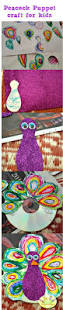 make a recycled cd peacock puppet preschooler crafts