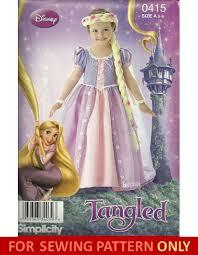 costume sewing pattern tangled disney rapunzel child