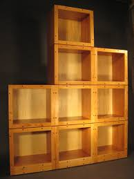 Modern Modular Bookcase Modular Cherry Shelves 2008 Gold Splinter