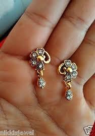 daily wear diamond earrings 22k gold plated american diamond oxidized designer earrings for