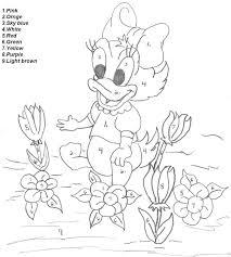 disney paint by number coloring pages color by number worksheets