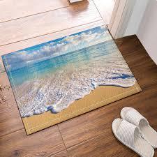 Tropical Kitchen Rugs Tropical Beach Kitchen Bath Bathroom Shower Floor Home Door Mat