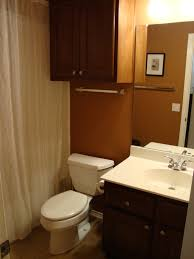 small guest bathroom decorating ideas superb wooden two doors cabinet toilet and single bowl sink