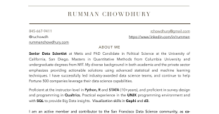 Machine Learning Resume Rumman Chowdhury Descriptive Resume Pdf Docdroid