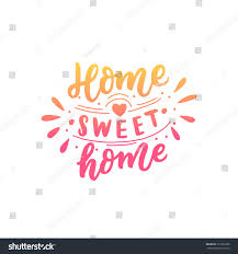 Home Sweet Home Decor Hand Drawn Lettering Phrase Home Sweet Stock Vector 721091086