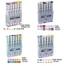 copic sketch marker pen 12 set basic ex 1 ex 2 ex 3 ex 4 ex 5 ex 6