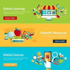 design online education online education banners in flat design vector free download