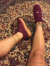 ankle bracelet with images Shoes burgundy gold sneakers ankle jewelry ankle bracelet jpg