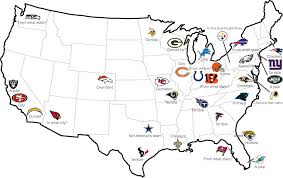 Nfl Usa Map by