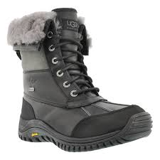ugg s adirondack boot ii black grey ugg australia s adirondack ii black grey winter boots