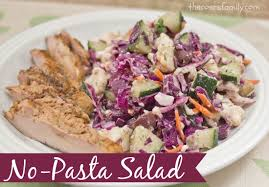 no pasta salad the coers family