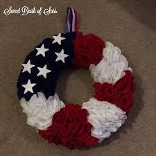 Diy Wreaths Diy Flag Door Wreath