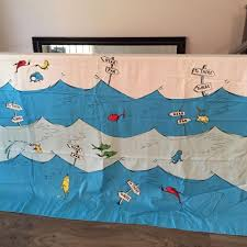 Pottery Barn Kids Shower Curtains Find More Pottery Barn Kids Dr Seuss 1 Fish 2 Fish Shower Curtain