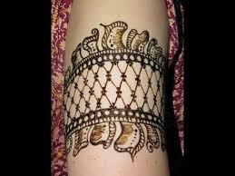 cuff arm band henna tattoo youtube